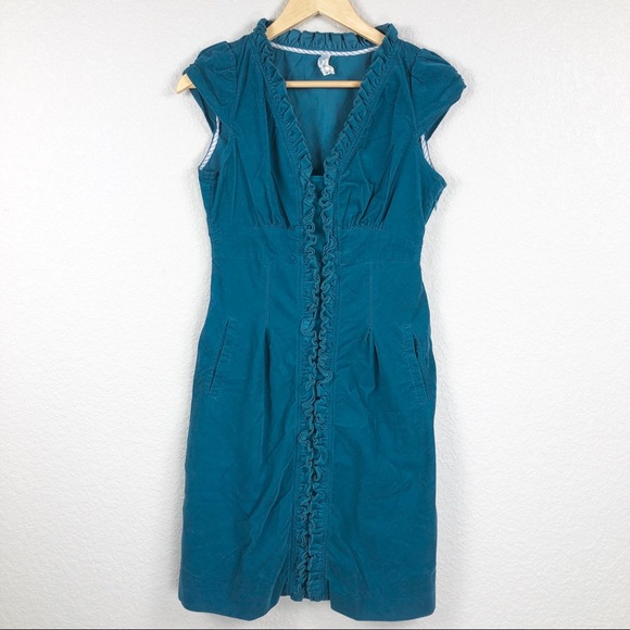 Anthropologie Dresses & Skirts - Anthropologie Maeve Teal Corduroy Dress Size 6